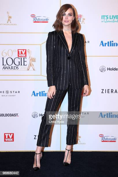 Ksenija Lukich arrives at the 60th Annual Logie Awards at The Star Gold Coast on July 1 2018 in Gold Coast Australia
