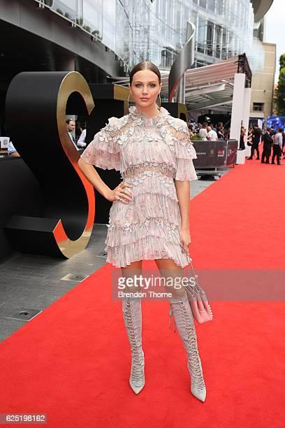 Ksenija Lukich arrives for the 30th Annual ARIA Awards 2016 at The Star on November 23 2016 in Sydney Australia