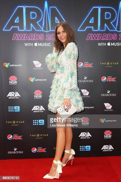 Ksenija Lukich arrives for the 31st Annual ARIA Awards 2017 at The Star on November 28 2017 in Sydney Australia