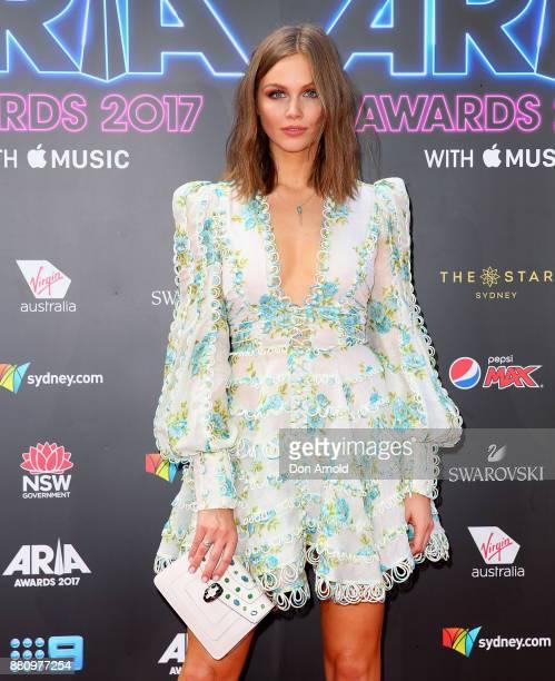 Ksenija Lukich arrives for the 31st Annual ARIA Awards 2017 at The Star on November 28 2017 in Sydney Australia
