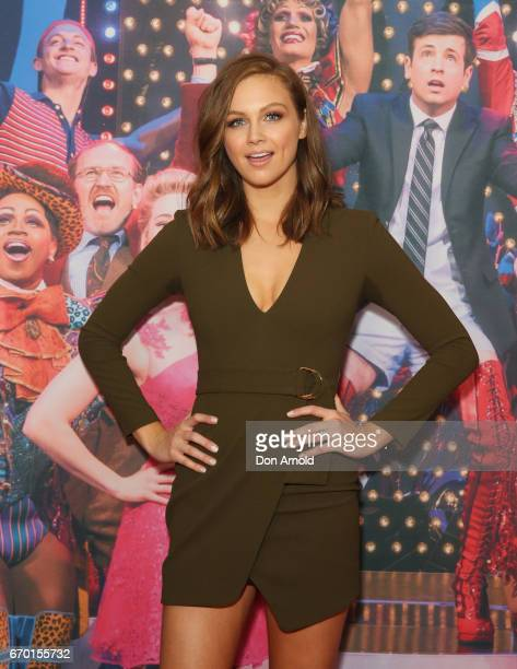Ksenija Lukich arrives for the opening night of Cyndi Lauper's Kinky Boots at Capitol Theatre on April 19 2017 in Sydney Australia