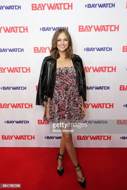 Ksenija Lukich attends the Australian premiere of 'Baywatch' at Hoyts EQ on May 18 2017 in Sydney Australia