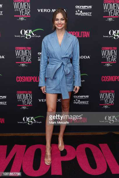 Ksenija Lukich attends the COSMOPOLITAN Women Of The Year Awards 2018 on October 11 2018 in Sydney Australia