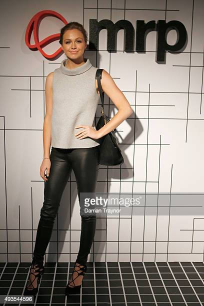 Ksenija Lukich of E News poses for a photo at the launch of the first Australian MRP store at Melbourne Central on October 21 2015 in Melbourne...