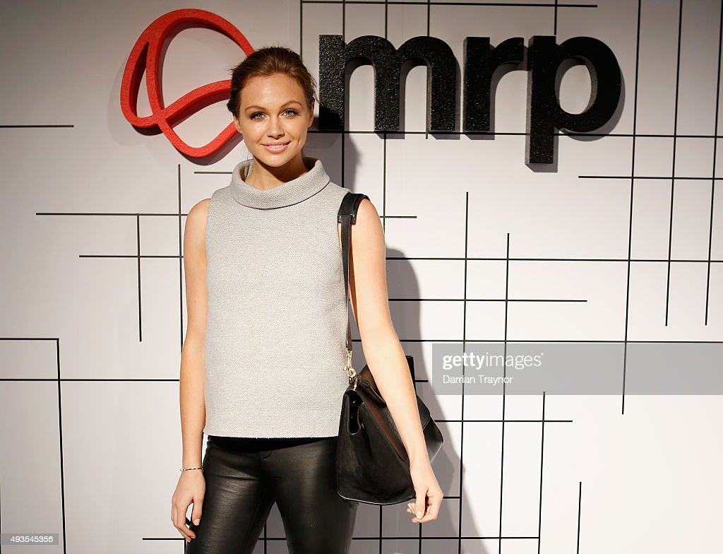 Ksenija Lukich of E News poses for a photo at the launch of the first Australian MRP store at Melbourne Central on October 21, 2015 in Melbourne, Australia.