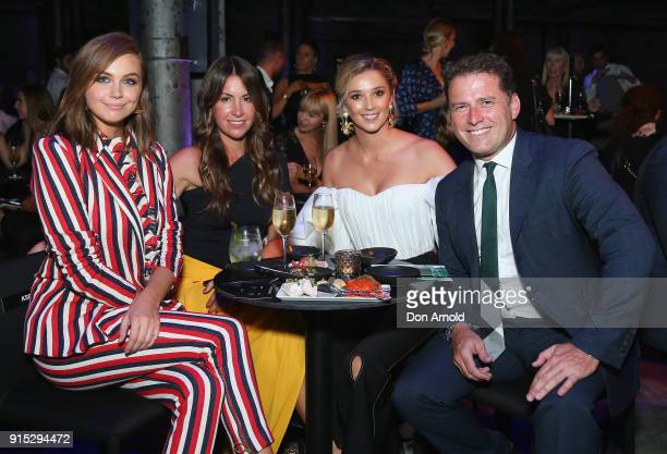 Ksenija Lukich poses alongside Tamie Ingham Jasmine Yarbrough and Karl Stefanovic after the David Jones Autumn Winter 2018 Collections Launch at...