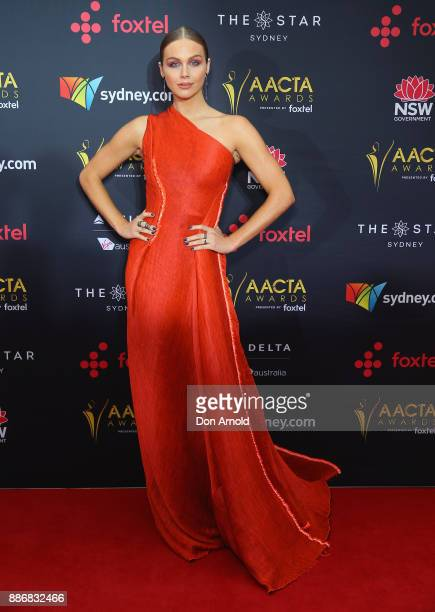 Ksenija Lukich poses during the 7th AACTA Awards at The Star on December 6 2017 in Sydney Australia