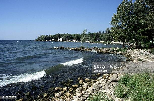 Küstenlandschaft auf der Halbinsel Dooram MichiganSee 1998küste lake seen michigan