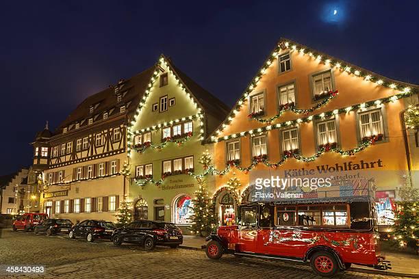 käthe wohlfahrt store in rothenburg ob der tauber - rothenburg stock photos and pictures