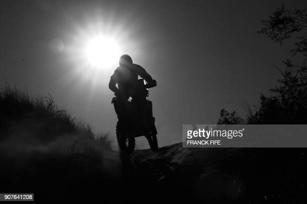 Ktm's Austrian biker Matthias Walkner competes during Stage 13 of the 2018 Dakar Rally between San Juan and Cordoba in Argentina on January 19 2018 /...