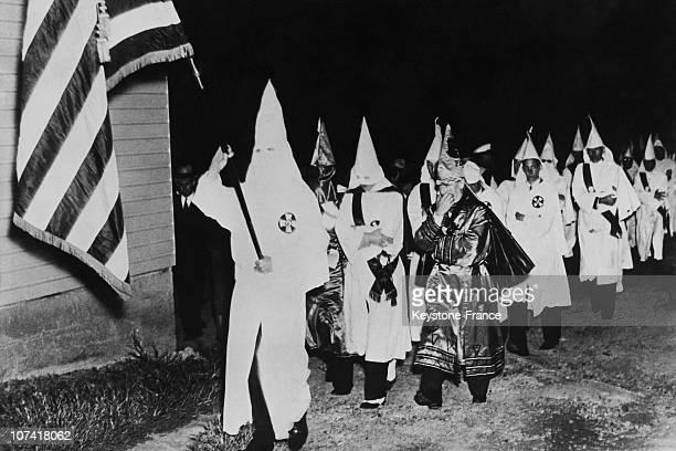 Ku Klux Klan Annual Congress At York In PennsylvaniaUsa On September 1937