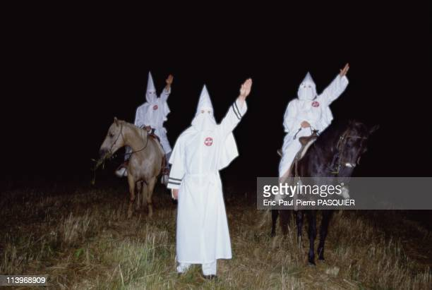 Ku Klux Klan In United StatesKlansmen saluting with the typical 'Heil Hitler' fascist greeting