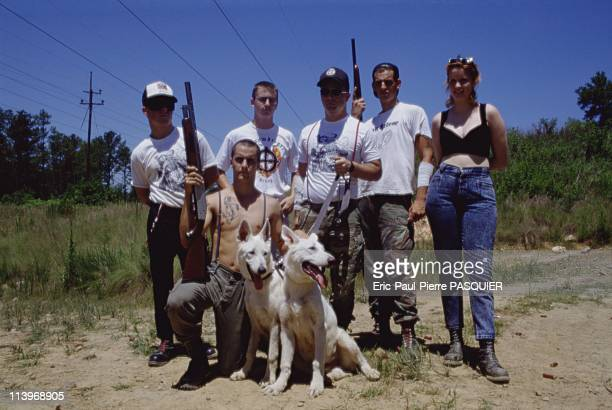 Ku Klux Klan, In United States-The new generation of Ku Klux Klan members in civilian clothes, armed with firearms and vicious dogs.