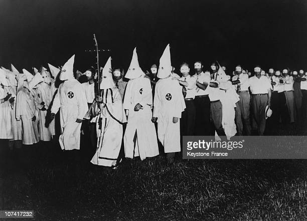 Ku Klux Klan Initiation Ceremony At Atlanta In GeorgiaUsa