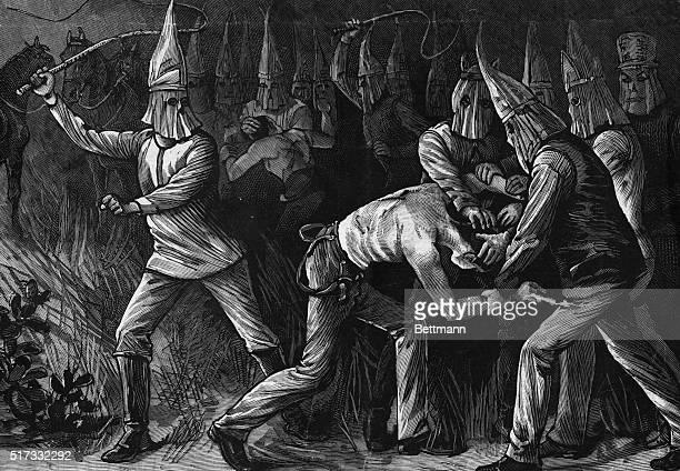 Ku Klux Klan lashing a lawyer Undated woodcut