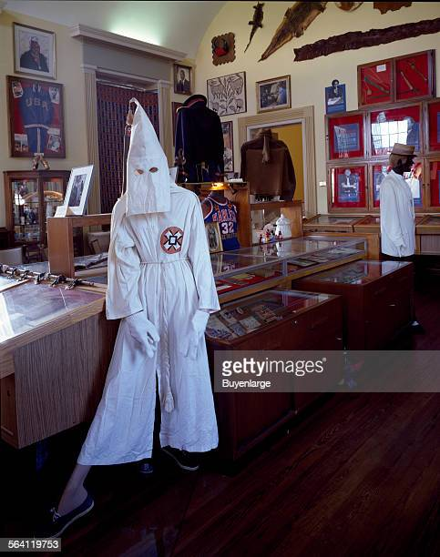 Ku Klux Klan mannequin in the Black Archives in Tallahassee Florida