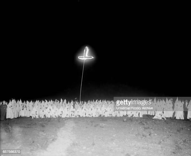 Ku Klux Klan Meeting at Night Washington DC USA National Photo Company June 1922