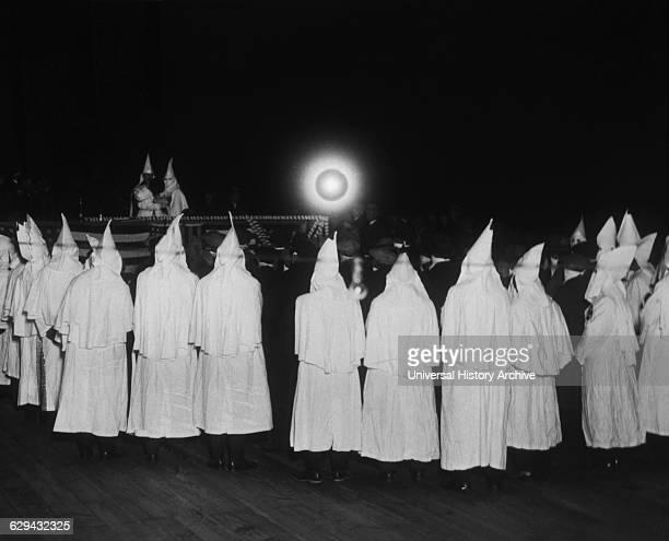 Ku Klux Klan Meeting New York USA circa 1924