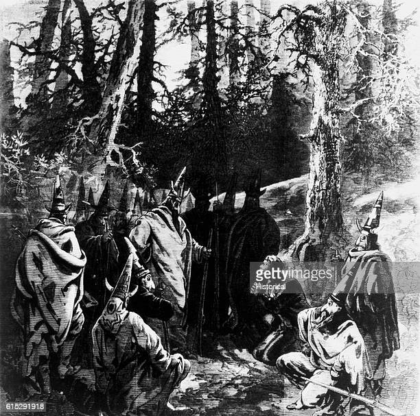 Ku Klux Klan members planning the murder of John Campbell on August 10th 1871 A Northern view of an incident that took place in Moore County North...