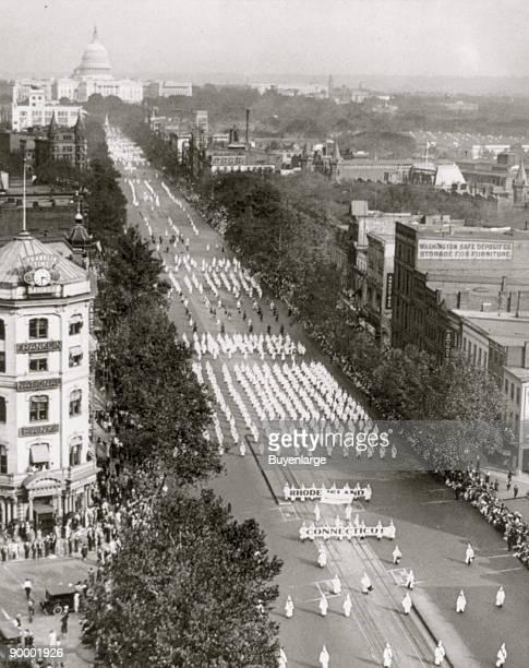 Ku Klux Klan parade Washington DC on Pennsylvania Ave NW