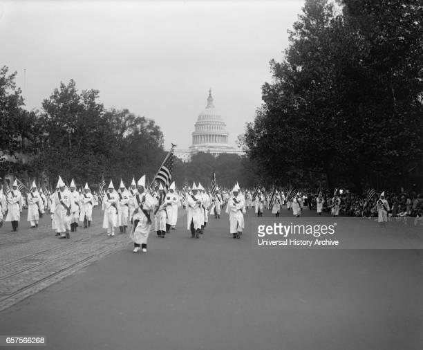 Ku Klux Klan Parade Washington DC USA National Photo Company September 1926