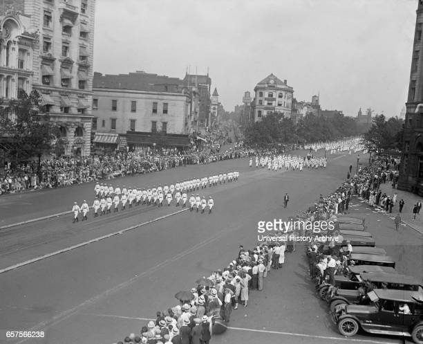 Ku Klux Klan Parade Washington DC USA National Photo Company August 1925