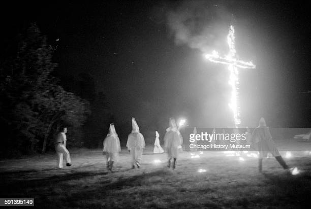Ku Klux Klan rally in cow pasture Concord North Carolina August 31 1963
