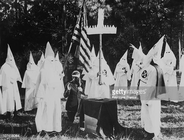 Ku Klux Klan Ritual At Atlanta In Usa During Thirties