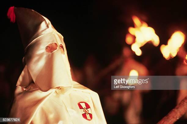 Ku Klux Klansman at a Rally in Maryland