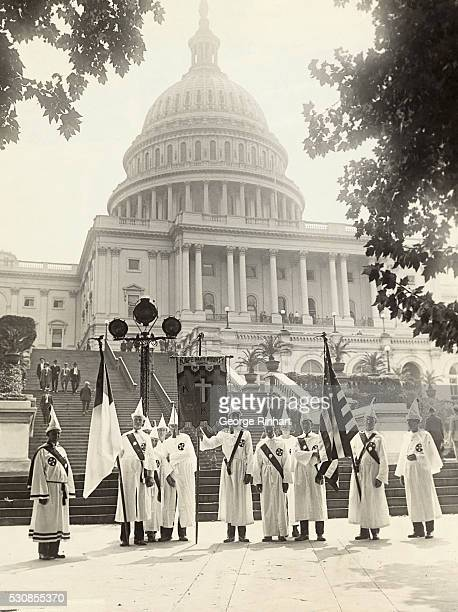 Ku Klux Klansmen from all parts of the country gathered in Washington today in a peaceful invasion of the nation's capital Before their great parade...