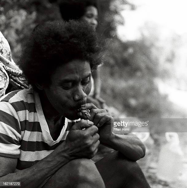 CONTENT] Kuala KohMalaysia March 1 2010 Man from Bateq Tribe light up a cigarette Bateq also written Batek is an Orang Asli tribe in Malaysia Today...