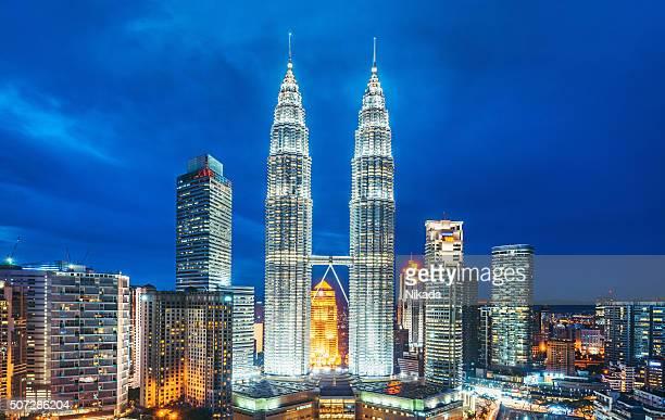 Kuala Lumpur in der Dämmerung