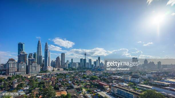 kuala lumpur bright sky - south east asia stock pictures, royalty-free photos & images