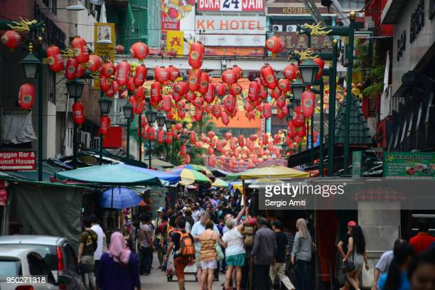 kuala lumpur chinatown - chinatown stock pictures, royalty-free photos & images