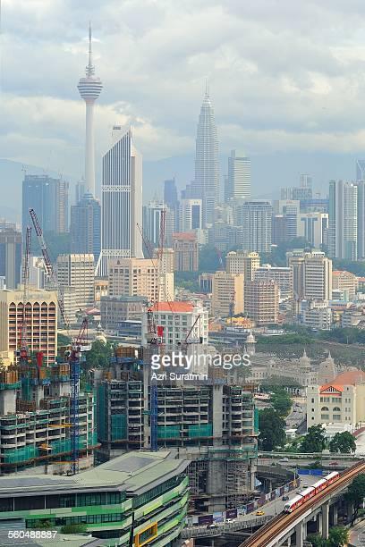Kuala Lumpur City during hot day