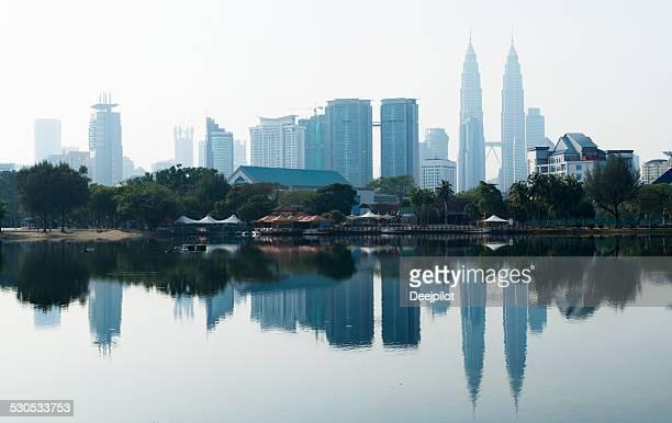 kuala lumpur city skyline in malaysia - kuala lumpur stock pictures, royalty-free photos & images