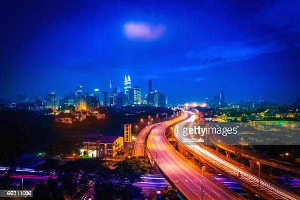 Kuala Lumpur Cityscape By Night, Malaysia