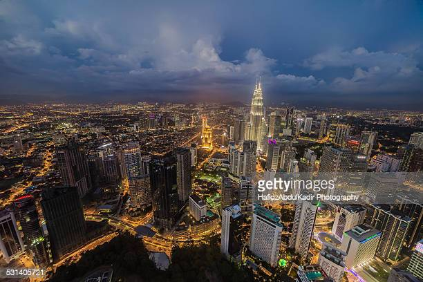 Kuala Lumpur high city view during dusk