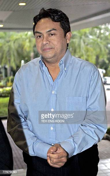 Abdul Razak arrives at the courthouse for his murder trial of a Mongolian model in Kuala Lumpur 05 January 2007 Razak was charged in 2006 with...