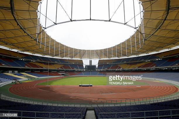 Kuala Lumpur, MALAYSIA: The Bukit Jalil National Stadium, primary venue for 2007 AFC Asian Cup 2007 matches co-hosted by Malaysia, is seen in Bukit...
