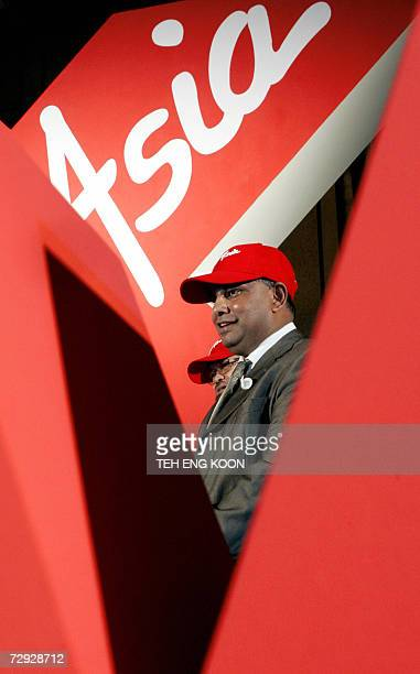 Tony Fernandes chief executive of Malaysian budget carrier launch the new longhaul lowcost airline AirAsia X which will fly to China India and Europe...