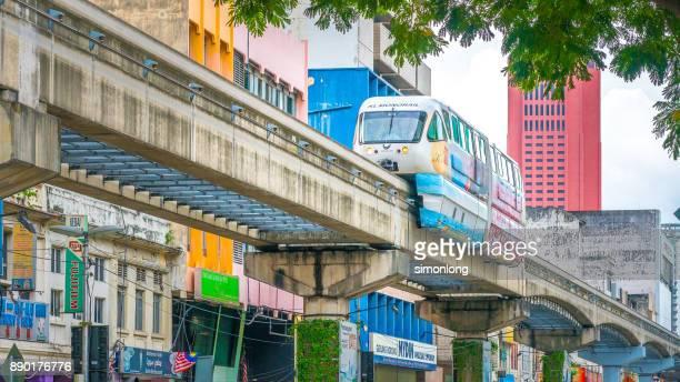 Kuala Lumpur monorail system. Kuala Lumpur, Malaysia