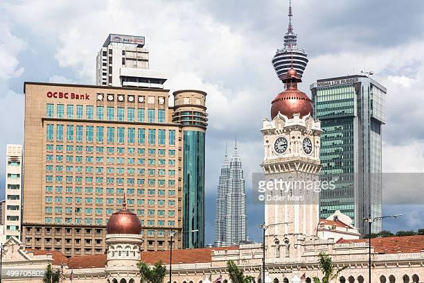 Kuala Lumpur skyline around Merdeka Square