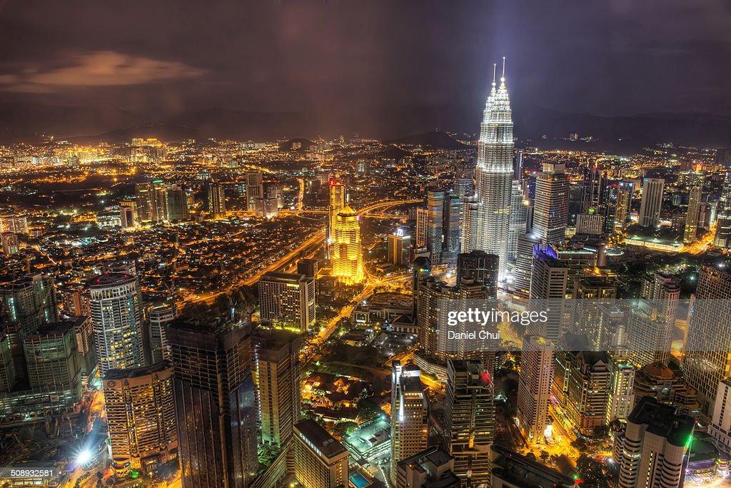 Kuala Lumpur skyline at night : Stock Photo