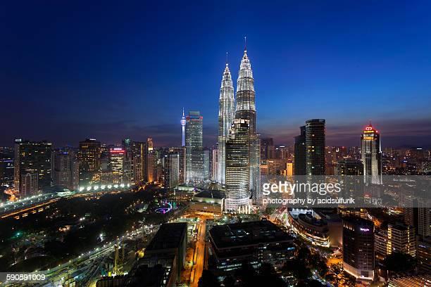 Kuala Lumpur skyline during blue hour