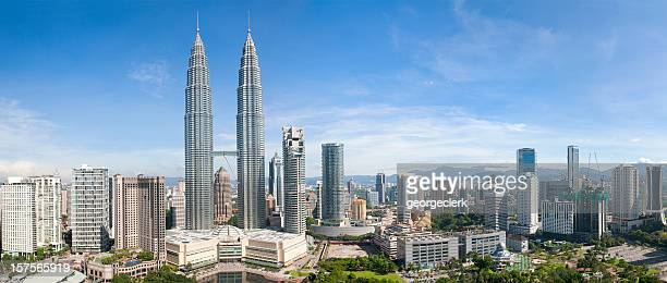 kuala lumpur skyline panorama - malaysia stock pictures, royalty-free photos & images
