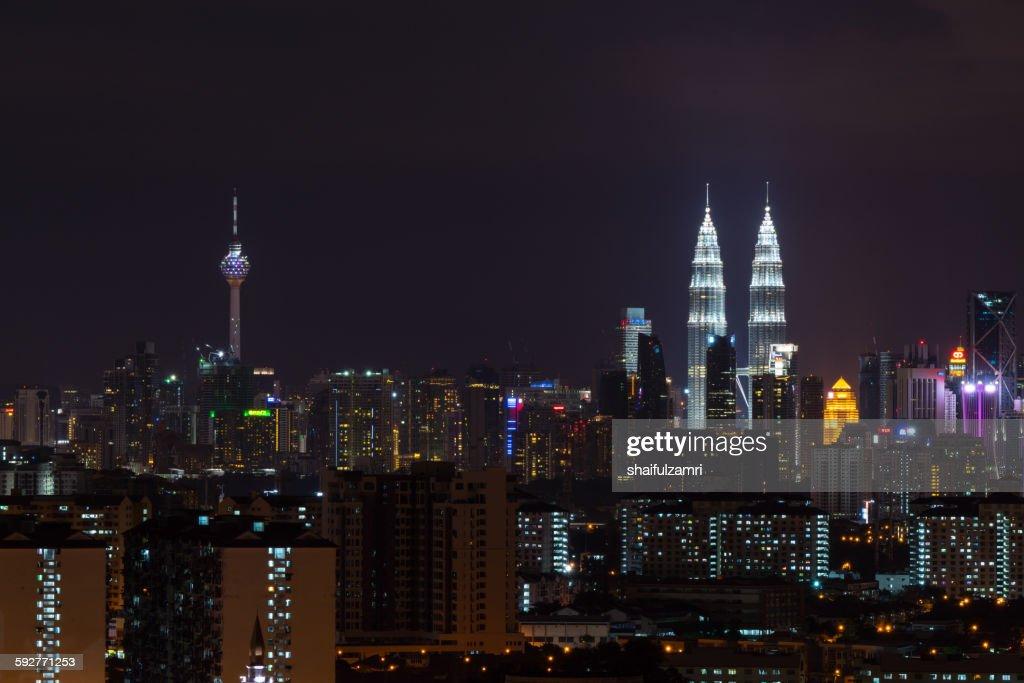 Kuala Lumpur skyline : Stock Photo