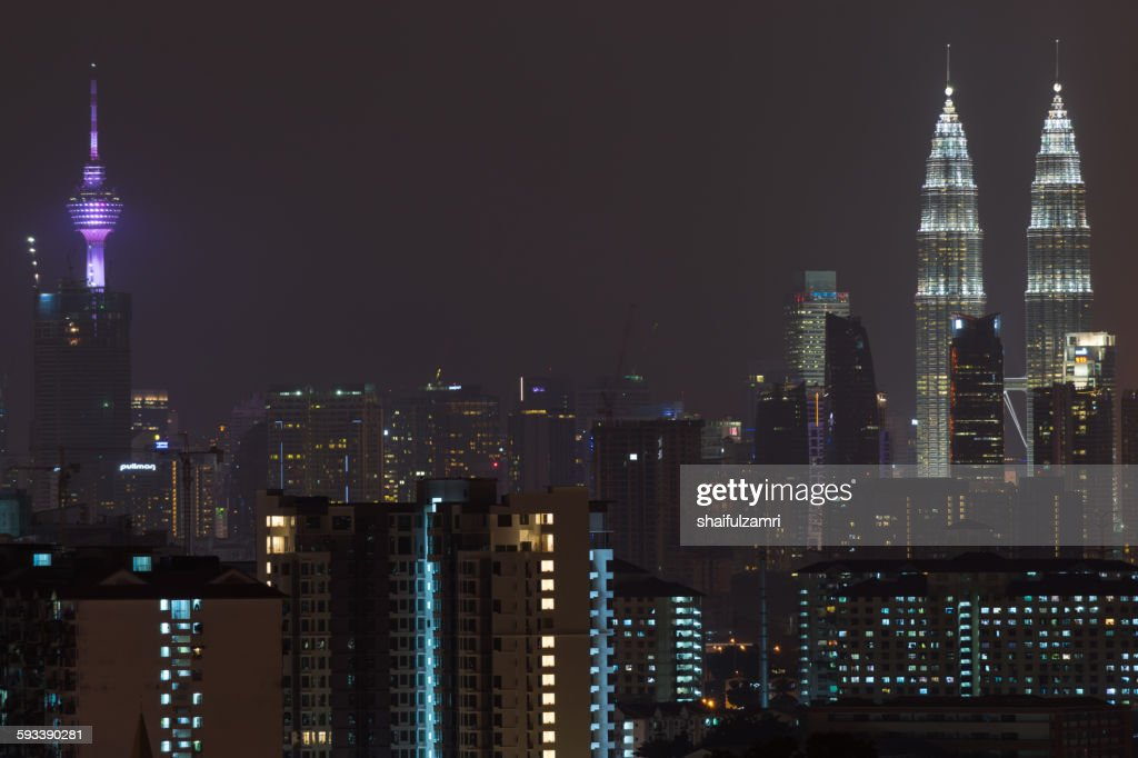 Kuala Lumpur skyline : Foto de stock