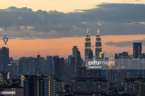 KUALA LUMPUR, MALAYSIA - 27TH DECEMBER 2015; Kuala Lumpur, the capital of Malaysia, is called KL by locals. Its modern skyline is dominated by the 451m-tall Petronas Twin Towers or KLCC by locals.