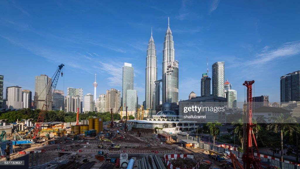 Kuala Lumpur under construction : Stock Photo
